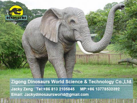 Outdoor playground Animatronic elephant DWA007
