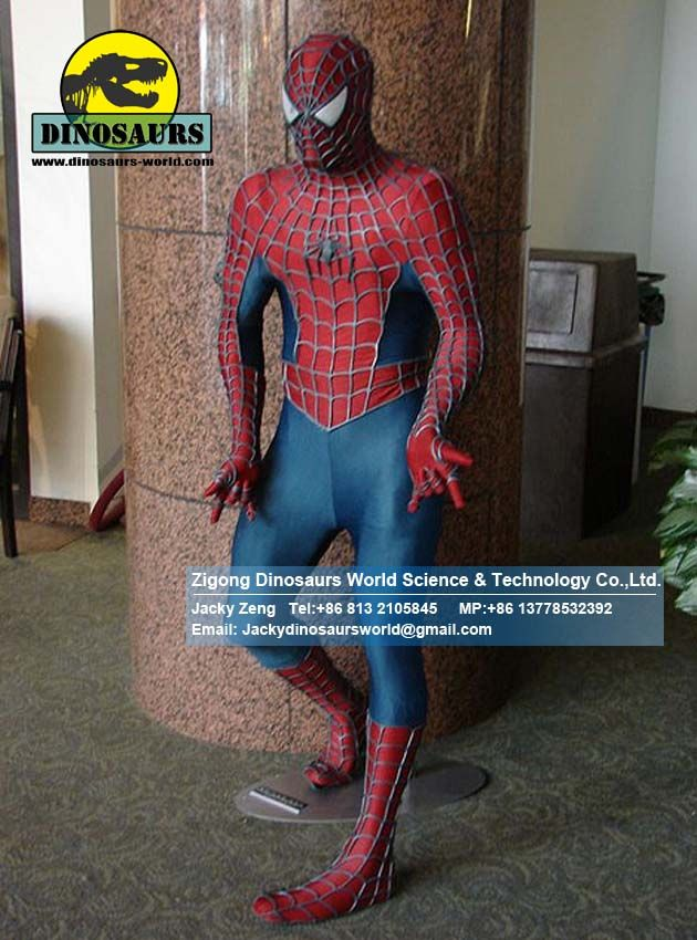 Themed Decoration Spider man amusement park equipments DWC018