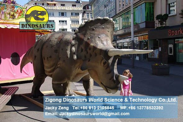 Playground trade exhibition animatronic dinosaurs model ( Triceratops ) DWD038