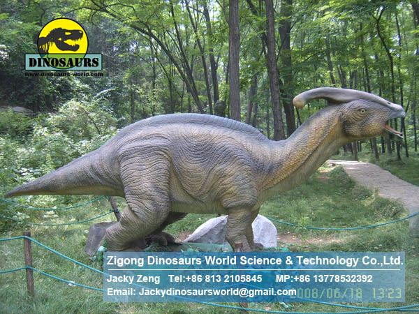 Children playground kids equipment dinosaur (Parasaurolophus) DWD094