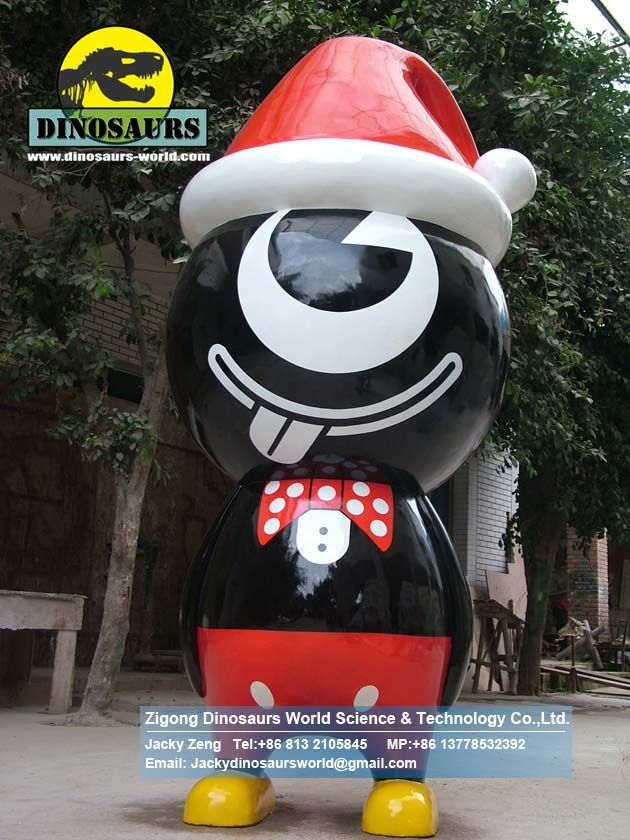 Theme park slide cartoon model black boy DWC025