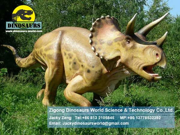 Kids outdoor playground items life size dinosaur statues DWD118
