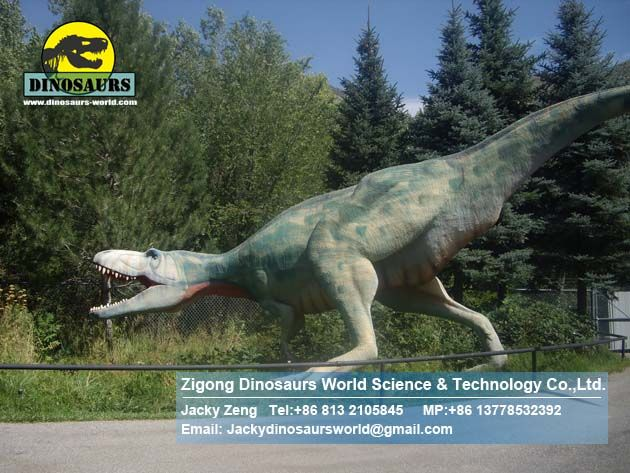 Theme park resin dinosaur head suppliers utahraptor DWD186