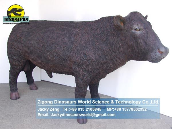 Life sized park equipment Animal Replicas bull DWA057