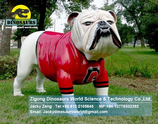 Playground festival decoration animals bulldog mascot DWA058