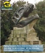 Museum exhibition artificial fossils replica Tyrannosaurus head DWF008