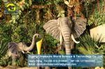 Playground Equipment animatronic animal replica show elephant DWA015