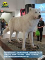 Animatronic animals Playground Equipment snow wolf DWA016