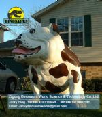 Animatronic animals Fiberglass Cartoon Bulldog DWA093