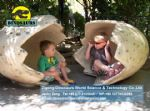 Playground kids play eggs ( Dinosaurs eggs ) DWE017