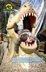 Tyrannosaurus rex Head for kids take photos DWE026