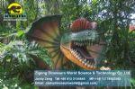 Adventure playground equipment real animals/dinosaurs dilophosaurus DWD136