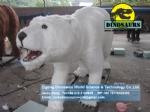 Life size Mechanical polar bear Animal Replica DWA117