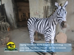 Amusement park electric animatronic animals ( Zebra ) DWA004